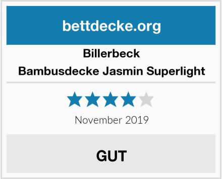 Billerbeck Bambusdecke Jasmin Superlight Test