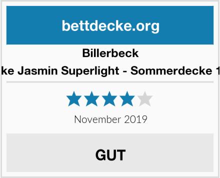 Billerbeck Bambusdecke Jasmin Superlight - Sommerdecke 155 x 220 cm Test