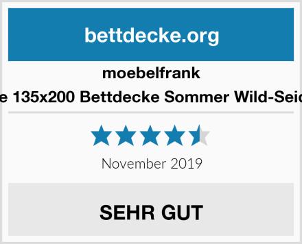 moebelfrank Sommerdecke 135x200 Bettdecke Sommer Wild-Seide Baumwolle Test