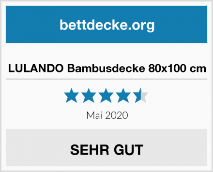 LULANDO Bambusdecke 80x100 cm Test