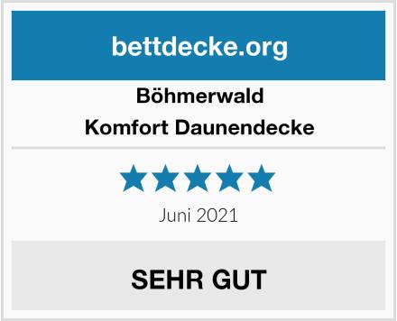 Böhmerwald Komfort Daunendecke, allergikergeeignet Test