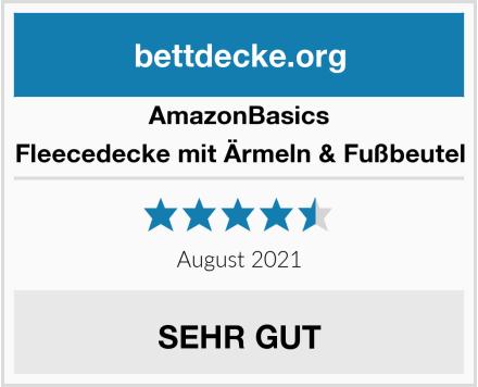 AmazonBasics Fleecedecke mit Ärmeln & Fußbeutel Test
