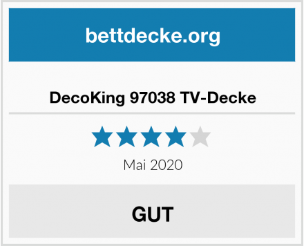 DecoKing 97038 TV-Decke Test
