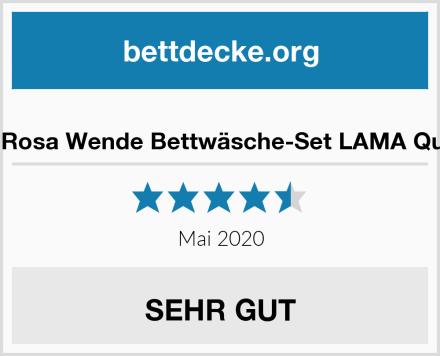 CTI Rosa Wende Bettwäsche-Set LAMA Queen Test