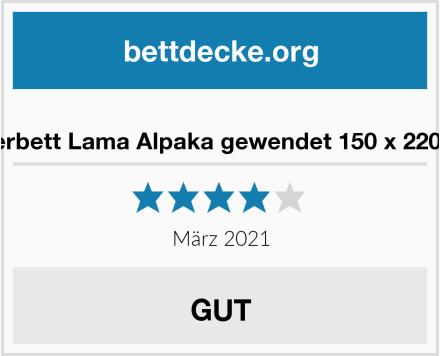 Oberbett Lama Alpaka gewendet 150 x 220 cm Test