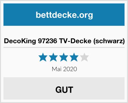 DecoKing 97236 TV-Decke (schwarz) Test