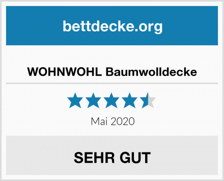 WOHNWOHL Baumwolldecke Test