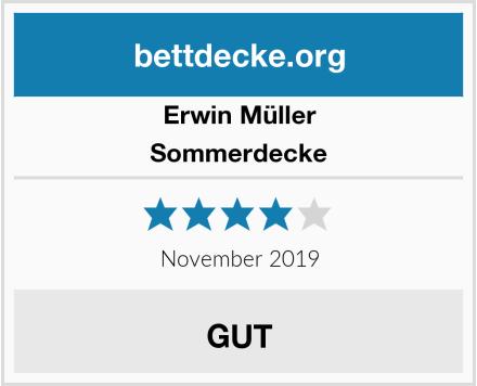 Erwin Müller Sommerdecke Test