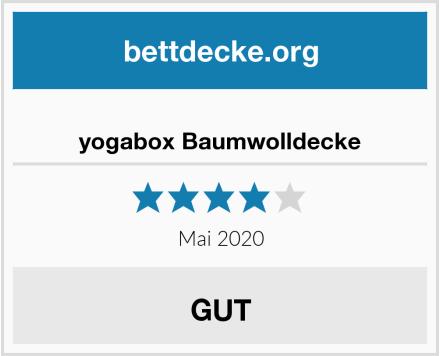 yogabox Baumwolldecke Test