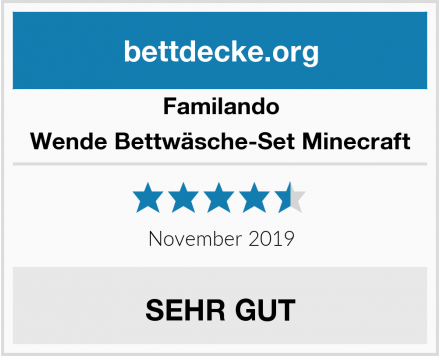 Familando Wende Bettwäsche-Set Minecraft Test