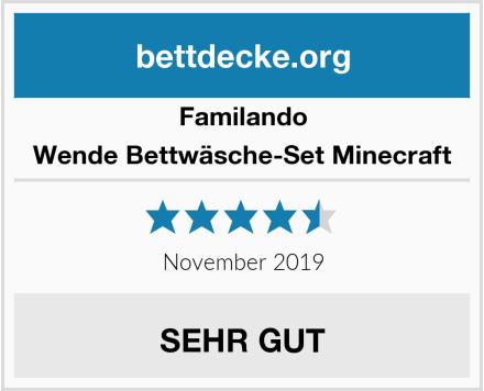 Familando Wende Bettwäsche-Set Minecraft Test