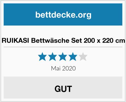 RUIKASI Bettwäsche Set 200 x 220 cm Test