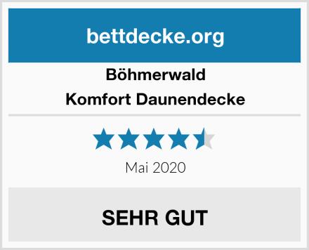 Böhmerwald Komfort Daunendecke Test