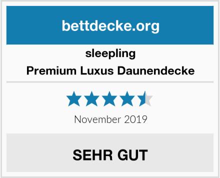 sleepling Premium Luxus Daunendecke Test