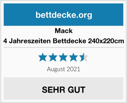 Mack 4 Jahreszeiten Bettdecke 240x220cm Test