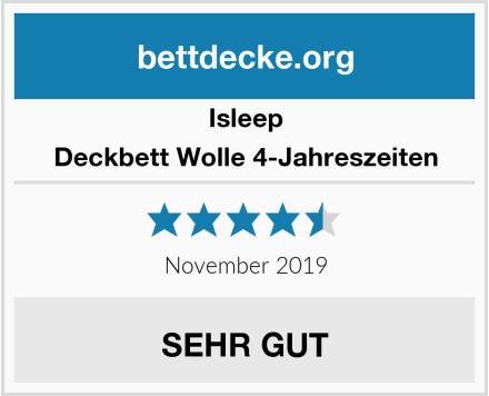 Isleep Deckbett Wolle 4-Jahreszeiten Test