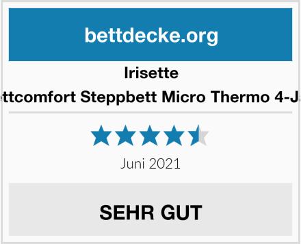 Irisette Badenia Bettcomfort Steppbett Micro Thermo 4-Jahreszeiten Test