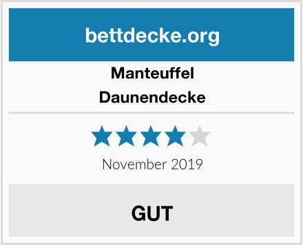 Manteuffel Daunendecke Test