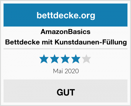AmazonBasics Bettdecke mit Kunstdaunen-Füllung Test