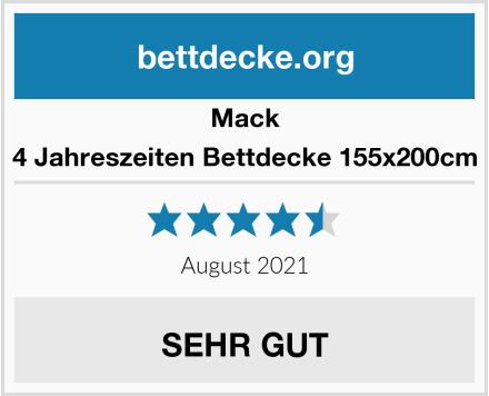 Mack 4 Jahreszeiten Bettdecke 155x200cm Test