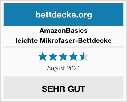 AmazonBasics leichte Mikrofaser-Bettdecke Test