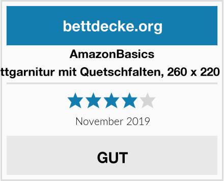 AmazonBasics Bettgarnitur mit Quetschfalten, 260 x 220 cm Test
