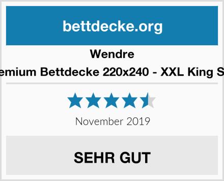 Wendre Premium Bettdecke 220x240 - XXL King Size Test