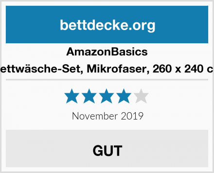 AmazonBasics Bettwäsche-Set, Mikrofaser, 260 x 240 cm Test