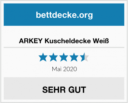 ARKEY Kuscheldecke Weiß Test