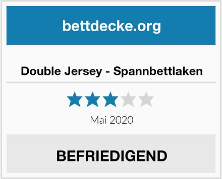 Double Jersey - Spannbettlaken Test