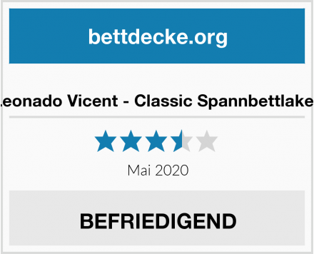 Leonado Vicent - Classic Spannbettlaken Test