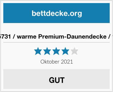Mediflow 5731 / warme Premium-Daunendecke / 135x200cm Test