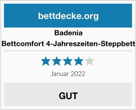 Badenia Bettcomfort 4-Jahreszeiten-Steppbett Test