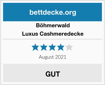 Böhmerwald Luxus Cashmeredecke Test