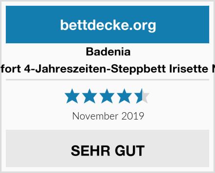 Badenia Bettcomfort 4-Jahreszeiten-Steppbett Irisette Noblesse Test