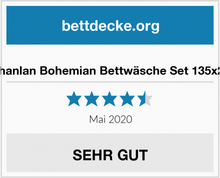 AShanlan Bohemian Bettwäsche Set 135x200 Test