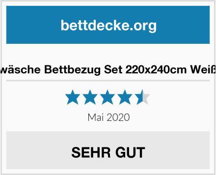 Stillshine Bettwäsche Bettbezug Set 220x240cm Weiß Grau Marmor Test