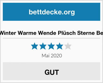 MALIKA Winter Warme Wende Plüsch Sterne Bettwäsche Test