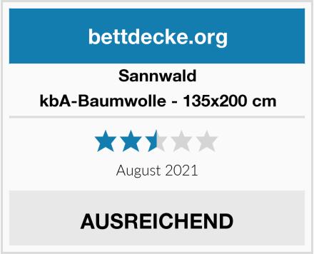 Sannwald kbA-Baumwolle - 135x200 cm Test