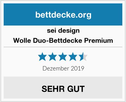 sei design Wolle Duo-Bettdecke Premium Test