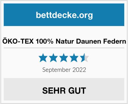 ÖKO-TEX 100% Natur Daunen Federn Test