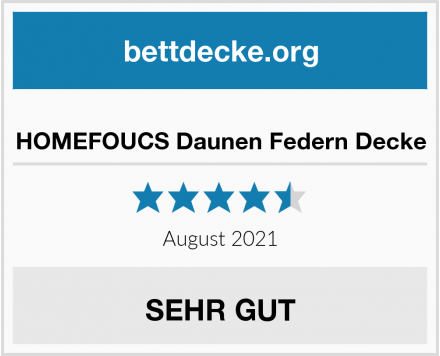 HOMEFOUCS Daunen Federn Decke Test