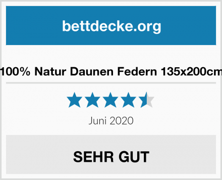 100% Natur Daunen Federn 135x200cm Test