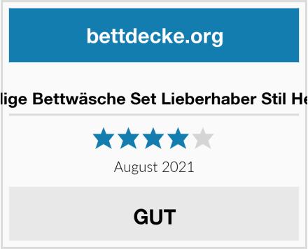 Shamdon 3-teilige Bettwäsche Set Lieberhaber Stil Her side His side Test