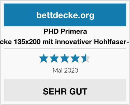 PHD Primera Bettdecke 135x200 mit innovativer Hohlfaser-Füllung Test