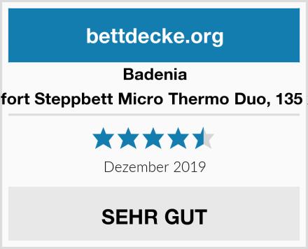 Badenia Bettcomfort Steppbett Micro Thermo Duo, 135 x 200 cm Test