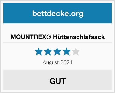 MOUNTREX® Hüttenschlafsack Test