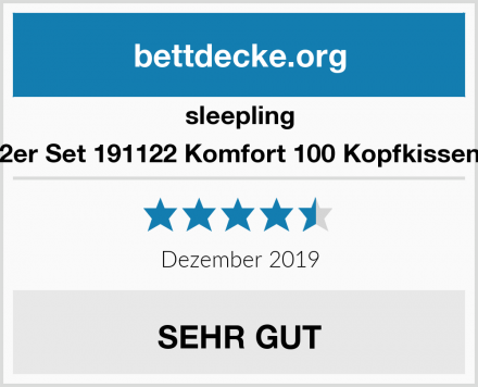 sleepling 2er Set 191122 Komfort 100 Kopfkissen Test