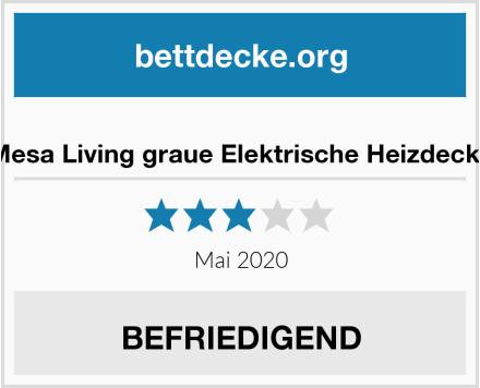 Mesa Living graue Elektrische Heizdecke Test