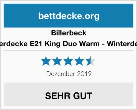 Billerbeck Faserdecke E21 King Duo Warm - Winterdecke Test